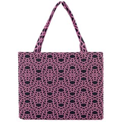 Triangle Knot Pink And Black Fabric Mini Tote Bag