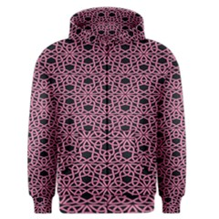 Triangle Knot Pink And Black Fabric Men s Zipper Hoodie