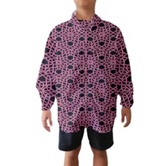 Triangle Knot Pink And Black Fabric Wind Breaker (kids)