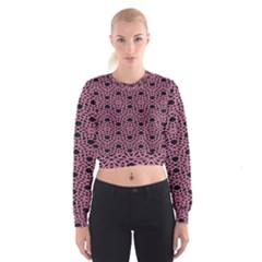 Triangle Knot Pink And Black Fabric Cropped Sweatshirt