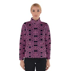 Triangle Knot Pink And Black Fabric Winterwear