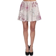 Leaves Pattern Skater Skirt