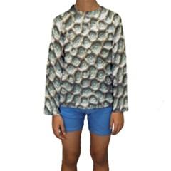 Ocean Pattern Kids  Long Sleeve Swimwear