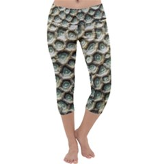 Ocean Pattern Capri Yoga Leggings