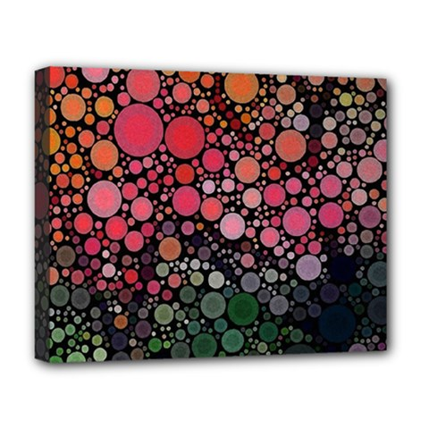 Circle Abstract Deluxe Canvas 20  X 16