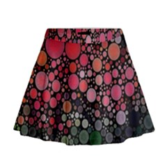 Circle Abstract Mini Flare Skirt