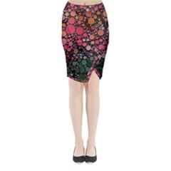 Circle Abstract Midi Wrap Pencil Skirt