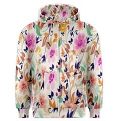 Vector Floral Art Men s Zipper Hoodie