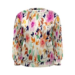 Vector Floral Art Women s Sweatshirt
