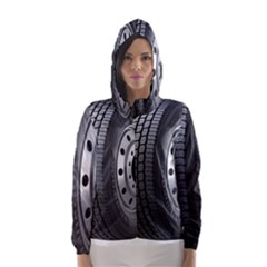 Tire Hooded Wind Breaker (women)