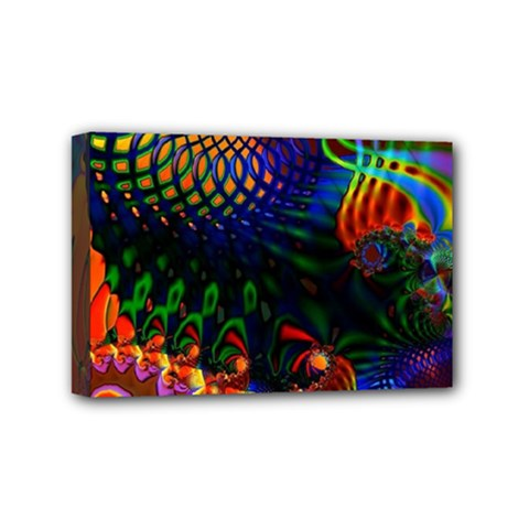 Colored Fractal Mini Canvas 6  X 4