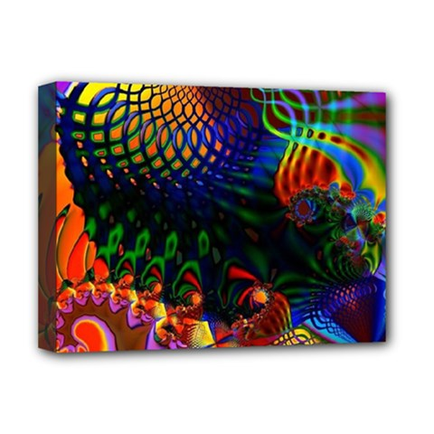 Colored Fractal Deluxe Canvas 16  X 12