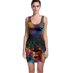 Colored Fractal Bodycon Dress