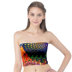 Colored Fractal Tube Top