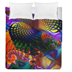 Colored Fractal Duvet Cover Double Side (queen Size)
