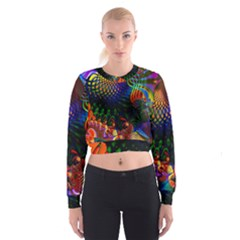 Colored Fractal Cropped Sweatshirt