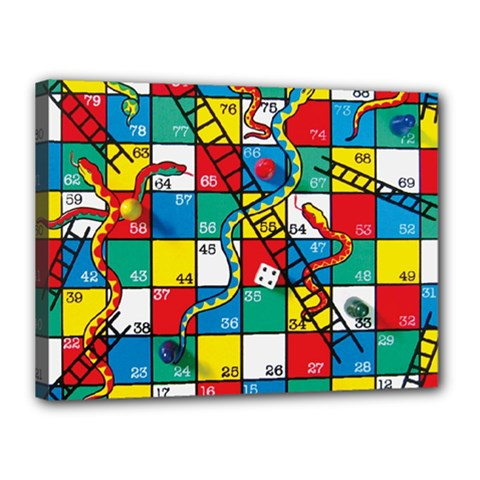 Snakes And Ladders Canvas 16  X 12