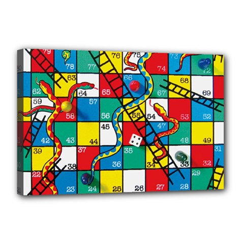 Snakes And Ladders Canvas 18  X 12