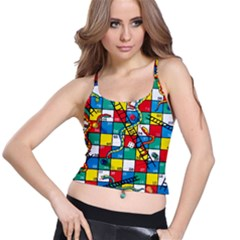 Snakes And Ladders Spaghetti Strap Bra Top