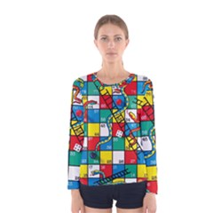 Snakes And Ladders Women s Long Sleeve Tee