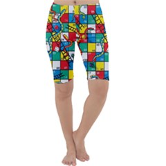 Snakes And Ladders Cropped Leggings