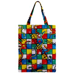 Snakes And Ladders Zipper Classic Tote Bag
