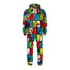 Snakes And Ladders Hooded Jumpsuit (kids)