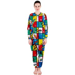 Snakes And Ladders Onepiece Jumpsuit (ladies)