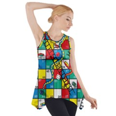 Snakes And Ladders Side Drop Tank Tunic