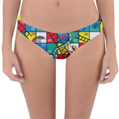 Snakes And Ladders Reversible Hipster Bikini Bottoms