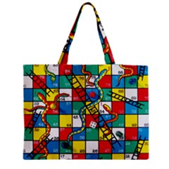 Snakes And Ladders Medium Tote Bag