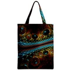 Fractal Snake Skin Zipper Classic Tote Bag