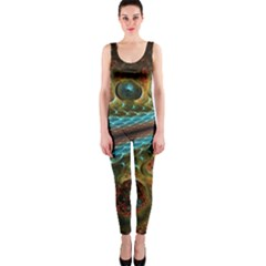 Fractal Snake Skin Onepiece Catsuit
