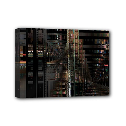 Blacktechnology Circuit Board Electronic Computer Mini Canvas 7  X 5