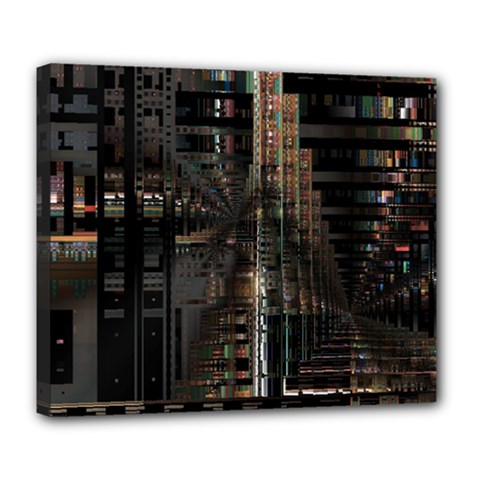 Blacktechnology Circuit Board Electronic Computer Deluxe Canvas 24  X 20