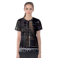 Blacktechnology Circuit Board Electronic Computer Women s Cotton Tee