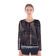 Blacktechnology Circuit Board Electronic Computer Women s Long Sleeve Tee