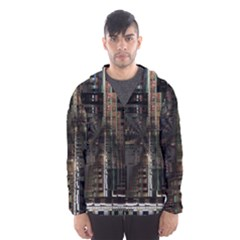 Blacktechnology Circuit Board Electronic Computer Hooded Wind Breaker (men)