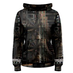 Blacktechnology Circuit Board Electronic Computer Women s Pullover Hoodie