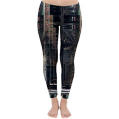 Blacktechnology Circuit Board Electronic Computer Classic Winter Leggings