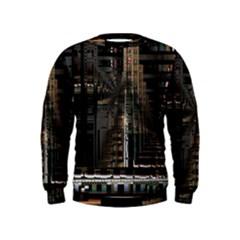 Blacktechnology Circuit Board Electronic Computer Kids  Sweatshirt