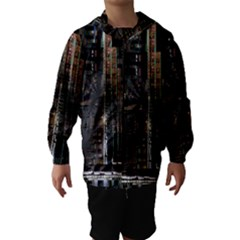 Blacktechnology Circuit Board Electronic Computer Hooded Wind Breaker (kids)
