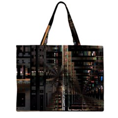 Blacktechnology Circuit Board Electronic Computer Zipper Large Tote Bag