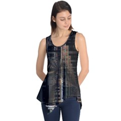Blacktechnology Circuit Board Electronic Computer Sleeveless Tunic