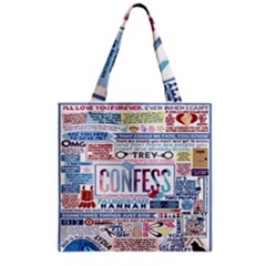 Book Collage Based On Confess Grocery Tote Bag