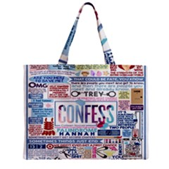 Book Collage Based On Confess Mini Tote Bag