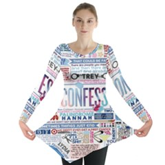 Book Collage Based On Confess Long Sleeve Tunic