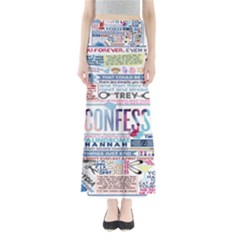 Book Collage Based On Confess Full Length Maxi Skirt