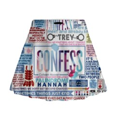 Book Collage Based On Confess Mini Flare Skirt