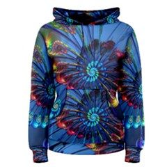 Top Peacock Feathers Women s Pullover Hoodie